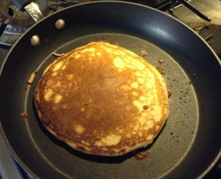 Pancake turned