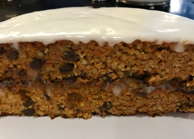 Carrot cake flourless done 7